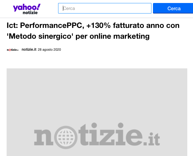 Il web marketing pay per click di PerformancePPC su Yahoo