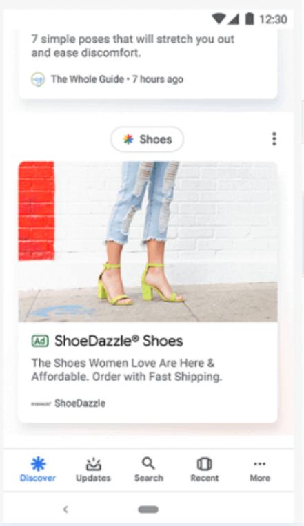 Esempio di Google discovery ads